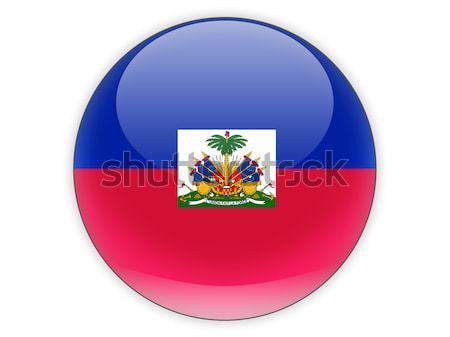 Ikon bayrak Haiti parlak dünya imzalamak Stok fotoğraf © MikhailMishchenko