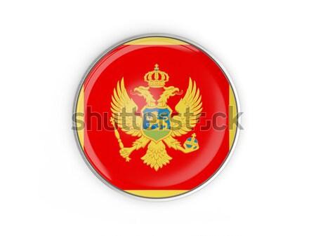 Round icon with flag of montenegro Stock photo © MikhailMishchenko