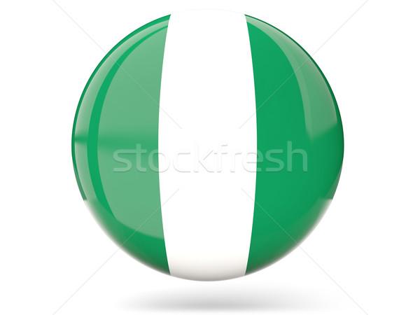 ícone bandeira Nigéria assinar país Foto stock © MikhailMishchenko
