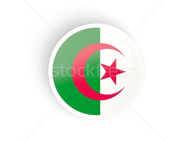 Vignette pavillon Algérie isolé blanche Voyage Photo stock © MikhailMishchenko