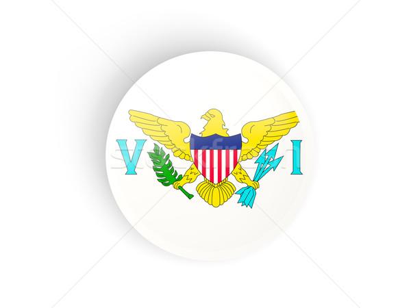 Round sticker with flag of virgin islands us Stock photo © MikhailMishchenko