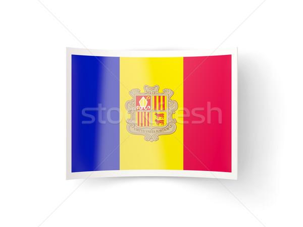 Bent icon with flag of andorra Stock photo © MikhailMishchenko