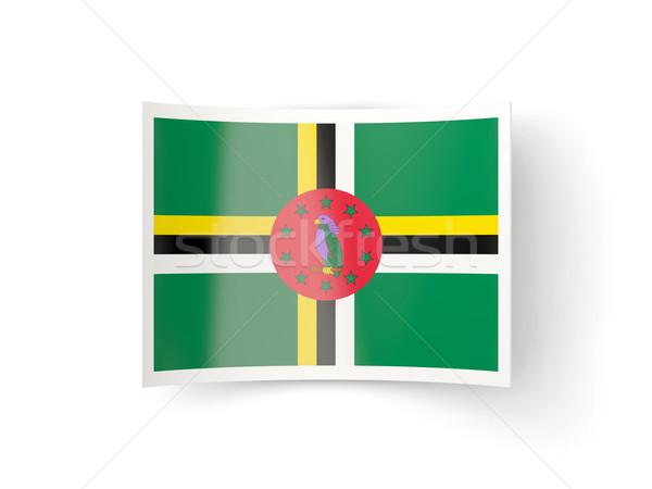ícone bandeira Dominica isolado branco país Foto stock © MikhailMishchenko