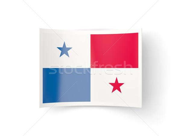 Ikon zászló Panama izolált fehér vidék Stock fotó © MikhailMishchenko