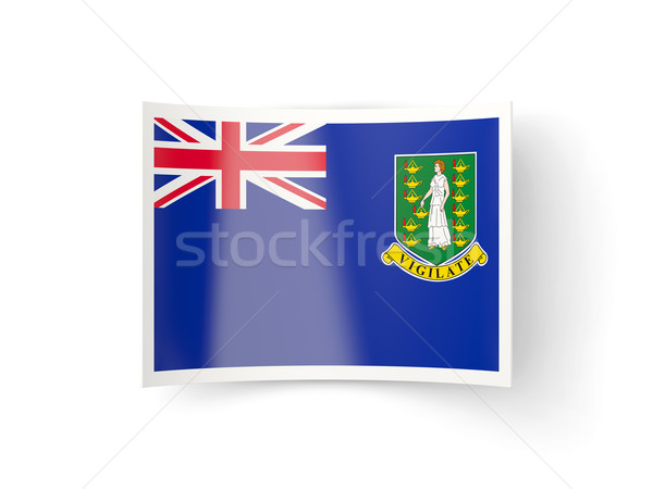 икона флаг Виргинские о-ва британский изолированный белый Сток-фото © MikhailMishchenko
