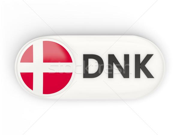Icon vlag Denemarken iso code land Stockfoto © MikhailMishchenko