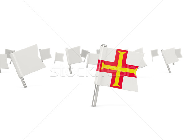 Square pin with flag of guernsey Stock photo © MikhailMishchenko