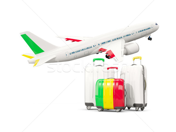 Bagaglio bandiera tre borse aereo isolato Foto d'archivio © MikhailMishchenko