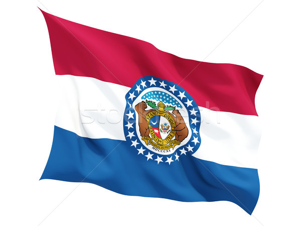 Flag of missouri, US state fluttering flag Stock photo © MikhailMishchenko