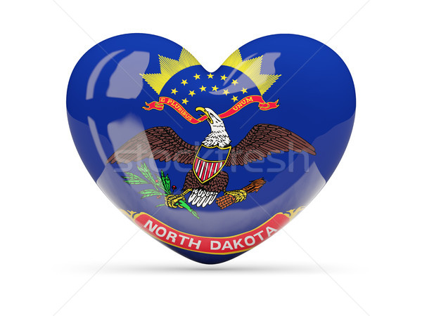 Flag of north dakota, US state heart icon Stock photo © MikhailMishchenko