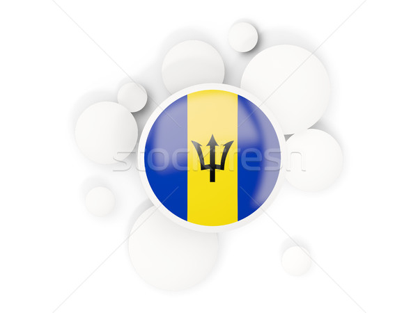 Round flag of barbados with circles pattern Stock photo © MikhailMishchenko
