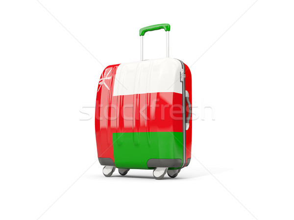 Bagaj bayrak bavul yalıtılmış beyaz 3d illustration Stok fotoğraf © MikhailMishchenko