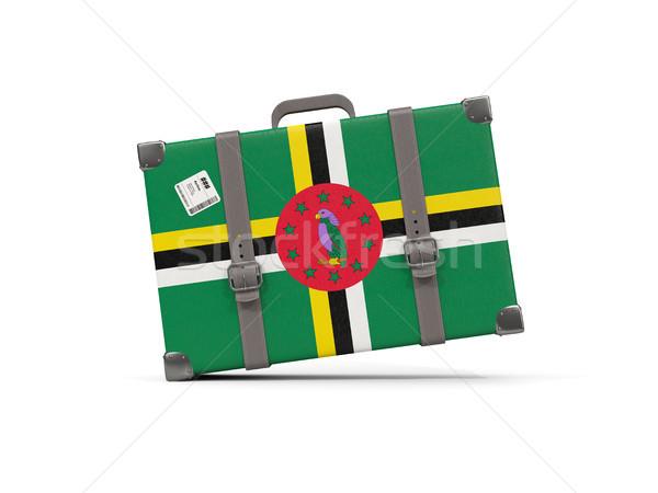 Bagage vlag Dominica koffer geïsoleerd witte Stockfoto © MikhailMishchenko