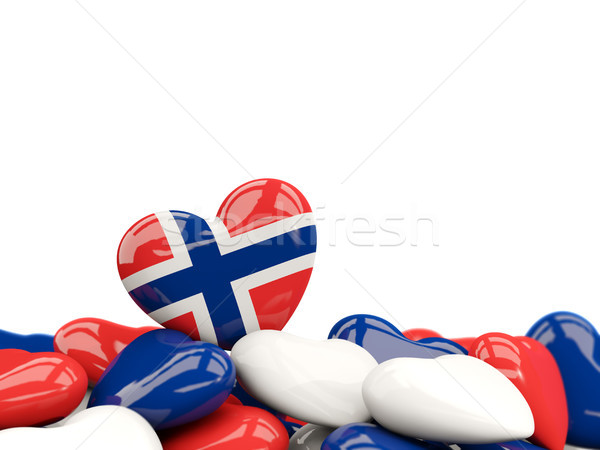 Heart with flag of norway Stock photo © MikhailMishchenko