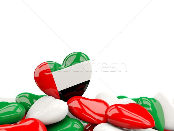 Szív zászló Egyesült Arab Emírségek felső szívek izolált Stock fotó © MikhailMishchenko