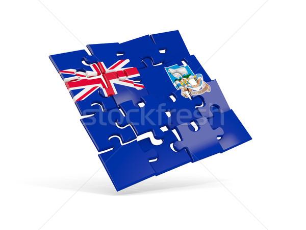 Puzzle zászló Falkland-szigetek izolált fehér 3d illusztráció Stock fotó © MikhailMishchenko