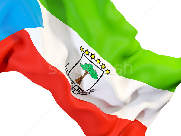 Vlag Equatoriaal-Guinea 3d illustration reizen Stockfoto © MikhailMishchenko