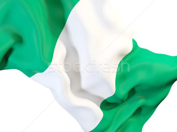 Bandeira Nigéria ilustração 3d viajar Foto stock © MikhailMishchenko