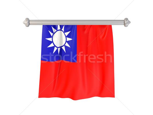 Bayrak Tayvan yalıtılmış beyaz 3d illustration imzalamak Stok fotoğraf © MikhailMishchenko