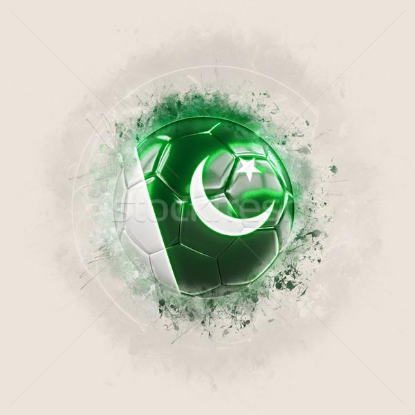 Grunge futbol bayrak Pakistan 3d illustration dünya Stok fotoğraf © MikhailMishchenko
