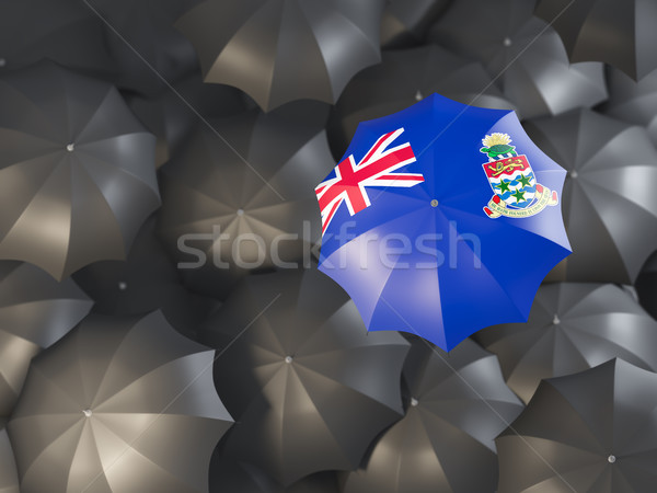 Umbrella with flag of cayman islands Stock photo © MikhailMishchenko