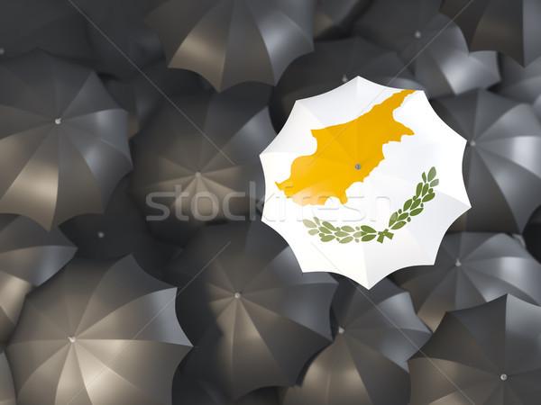 зонтик флаг Кипр Top черный Сток-фото © MikhailMishchenko