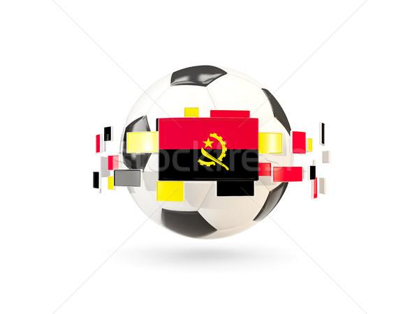 футбольным мячом линия флагами флаг Ангола Сток-фото © MikhailMishchenko