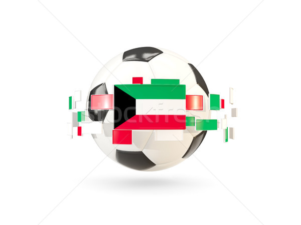 Futebol linha bandeiras bandeira Kuweit flutuante Foto stock © MikhailMishchenko