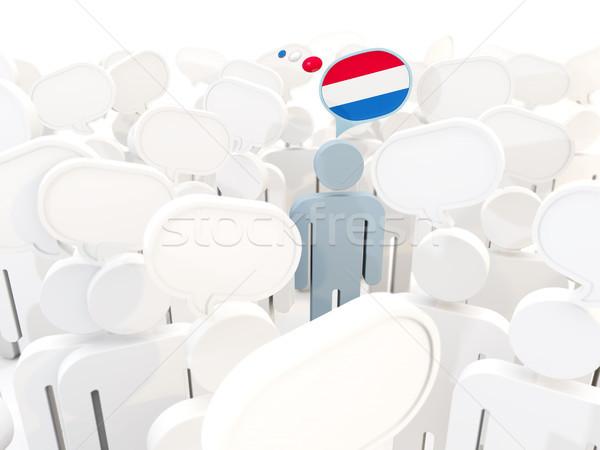 Mann Flagge Niederlande Menge 3D-Darstellung Reise Stock foto © MikhailMishchenko