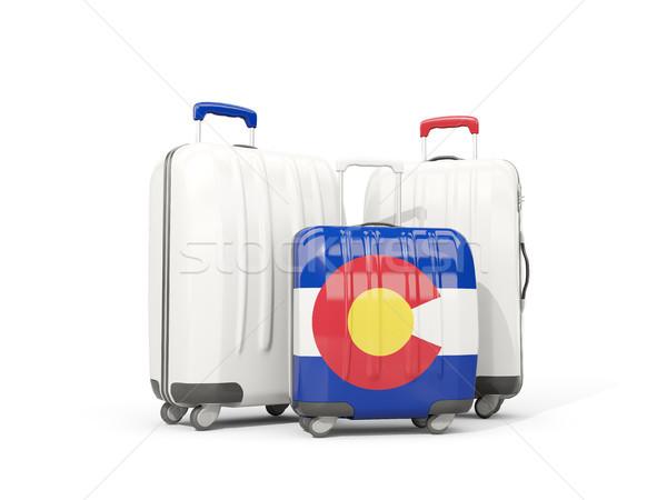 Bagagem bandeira Colorado três sacos Estados Unidos Foto stock © MikhailMishchenko