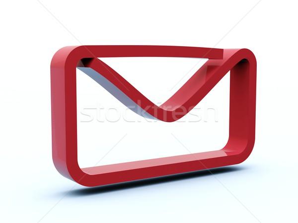 ストックフォト: メール · アイコン · 青 · 赤 · 白 · ツール