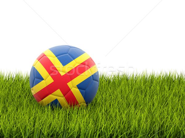 Football with flag of aland islands Stock photo © MikhailMishchenko