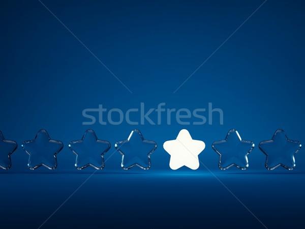 Row of stars with light Stock photo © MikhailMishchenko