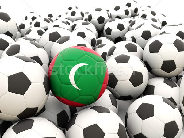 Futbol bayrak Maldivler düzenli yaz Stok fotoğraf © MikhailMishchenko