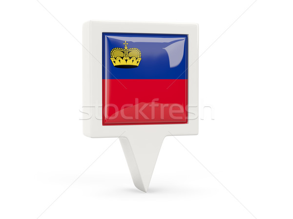 Square flag icon of liechtenstein Stock photo © MikhailMishchenko