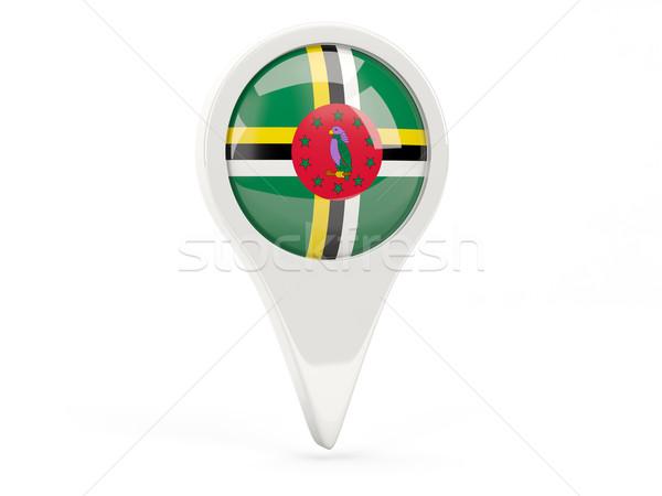 Bandeira ícone Dominica isolado branco mapa Foto stock © MikhailMishchenko
