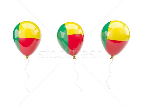 Aria palloncini bandiera Benin isolato bianco Foto d'archivio © MikhailMishchenko