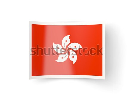 Postage stamp icon of hong kong Stock photo © MikhailMishchenko