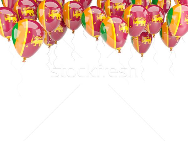 Ballon frame vlag Sri Lanka geïsoleerd witte Stockfoto © MikhailMishchenko