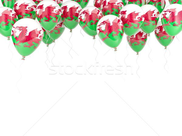 Globo marco bandera gales aislado blanco Foto stock © MikhailMishchenko