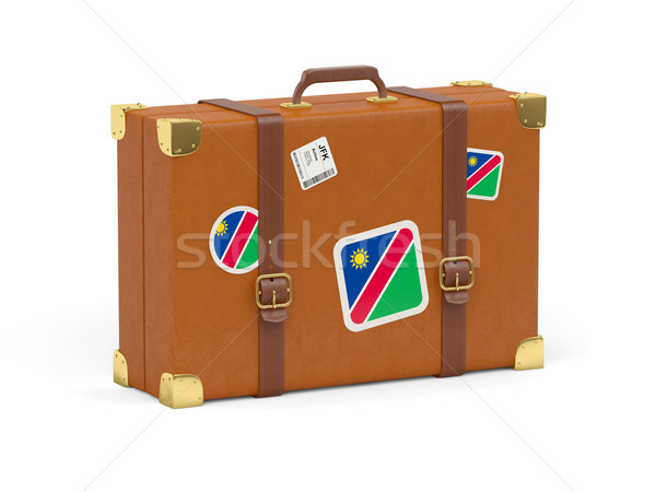 Bavul bayrak Namibya seyahat yalıtılmış beyaz Stok fotoğraf © MikhailMishchenko