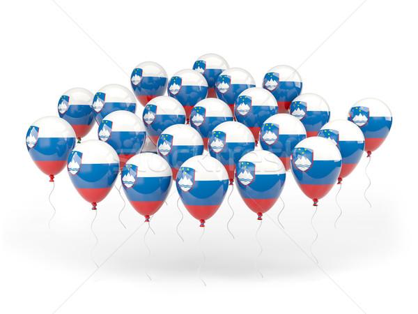 Balonlar bayrak Slovenya yalıtılmış beyaz ülke Stok fotoğraf © MikhailMishchenko