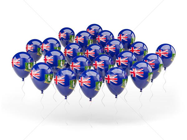 шаров флаг британский Виргинские о-ва изолированный белый Сток-фото © MikhailMishchenko
