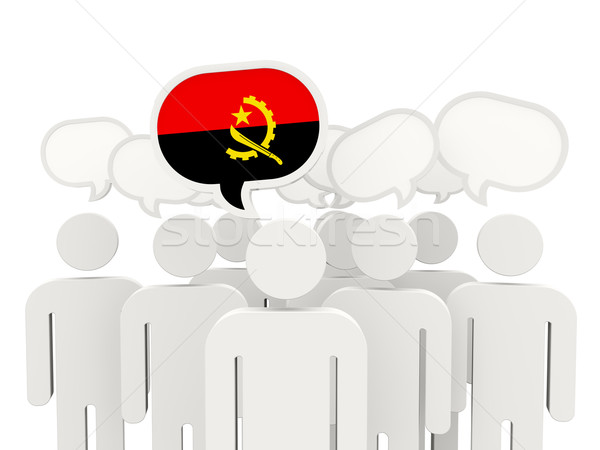 People with flag of angola Stock photo © MikhailMishchenko