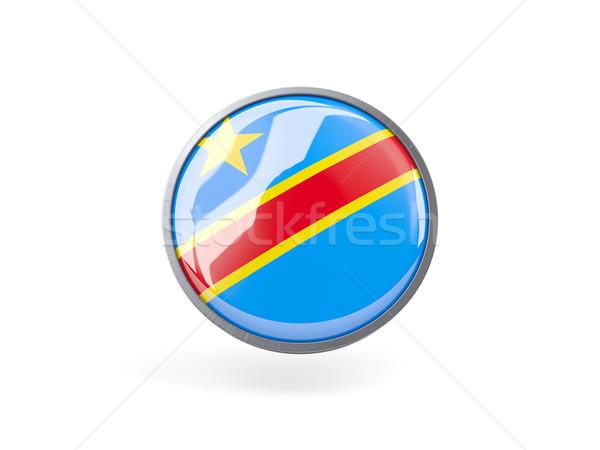 Ikon bayrak demokratik cumhuriyet Kongo Metal Stok fotoğraf © MikhailMishchenko