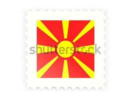 квадратный икона флаг Македонии металл кадр Сток-фото © MikhailMishchenko