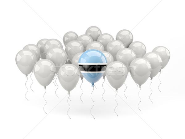 Lucht ballonnen vlag Botswana geïsoleerd witte Stockfoto © MikhailMishchenko