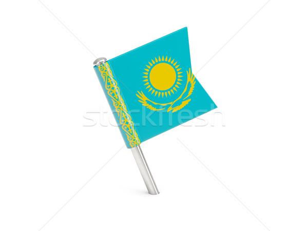 флаг Pin Казахстан изолированный белый Сток-фото © MikhailMishchenko