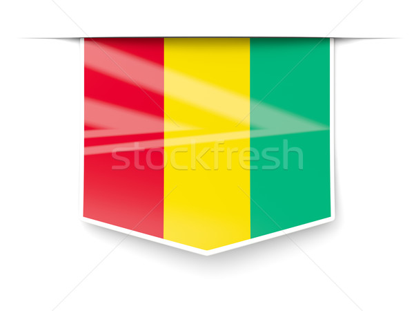 Square label with flag of guinea Stock photo © MikhailMishchenko