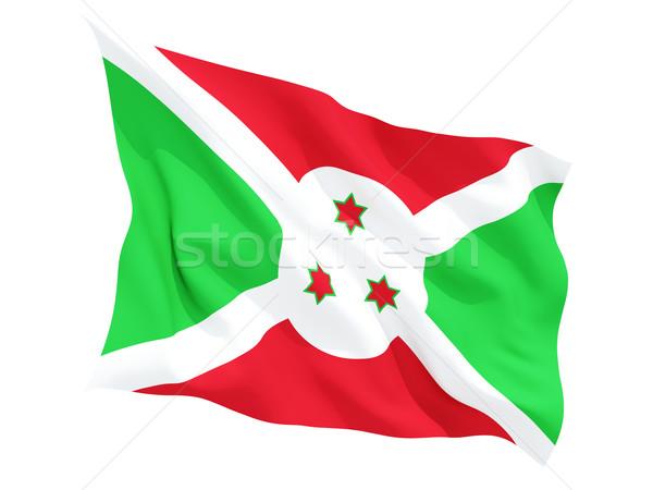 Bandeira Burundi isolado branco Foto stock © MikhailMishchenko